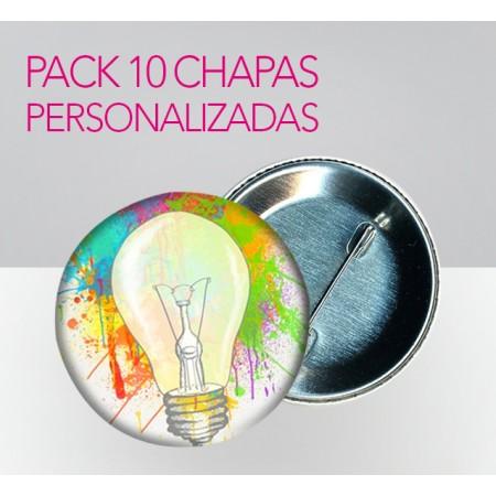 Chapas Personalizadas (Pack 10 ud)